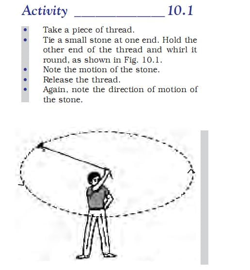 Activity 10.1 Class 9 Science gravitation chapter 10