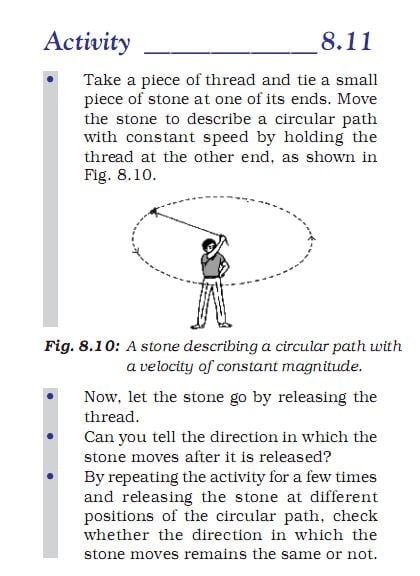 Activity 8.11 Class 9 Science Chapter 8 motion