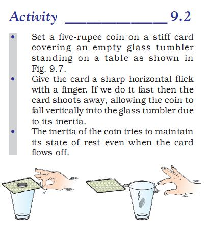 Activity 9.2 Class 9 Science Force and Laws of Motion