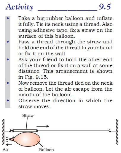 Activity 9.5 Class 9 Science Force and Laws of Motion