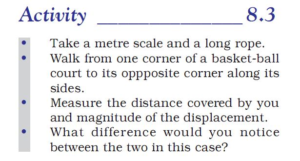 Activity 8.3 Class 9 Science Chapter 8 Motion