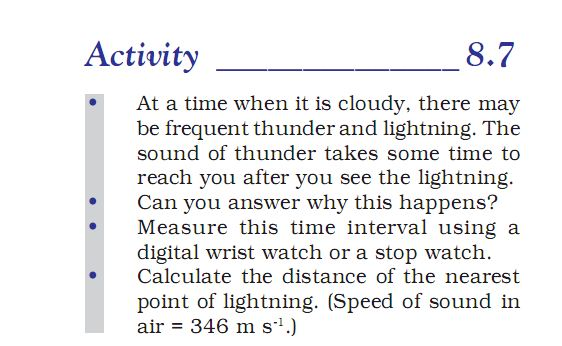Activity 8.7 Class 9 Science Chapter 8 Motion